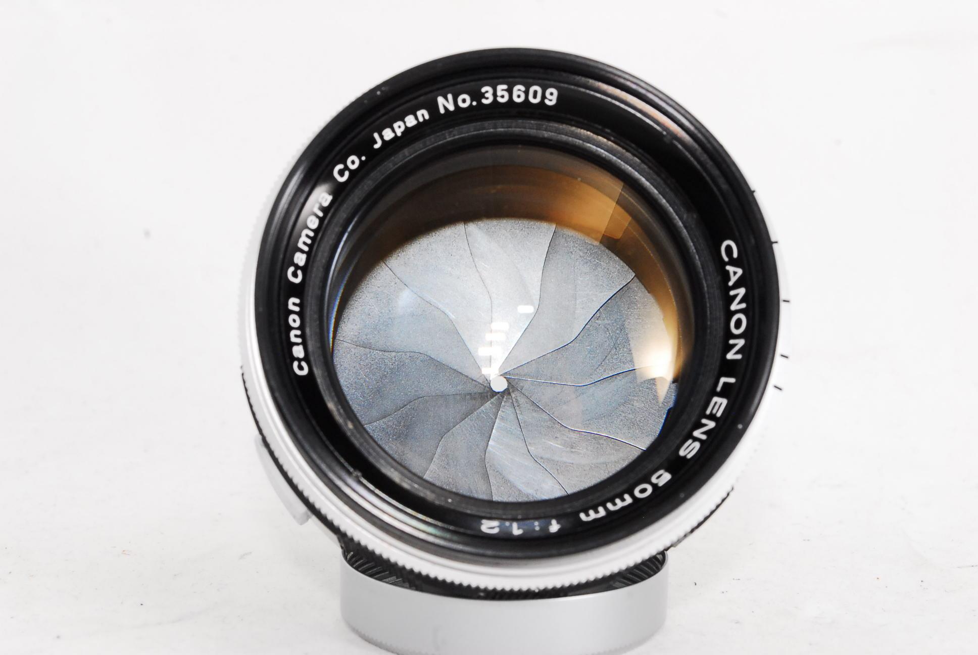 Canon Rangefinder 50mm F1.2 Lens