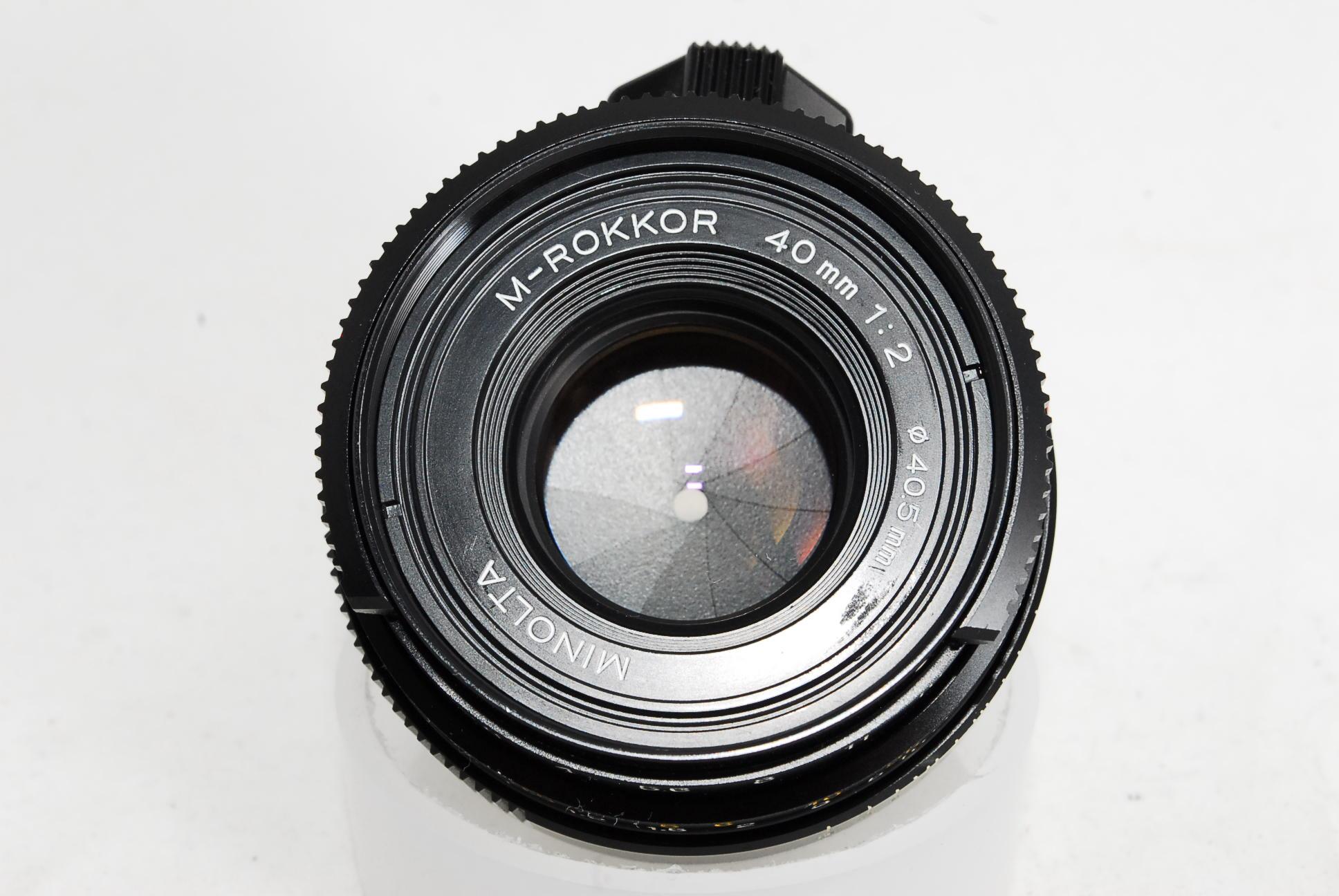 Minolta M-Rokkor 40mm F2 Lens